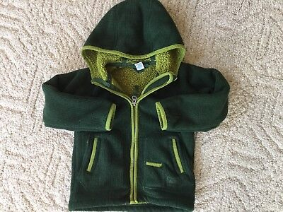 REI 3T Toddler Fleece Jacket Hood Hoodie Forest Green Full Zipper Fuzzy Cozy