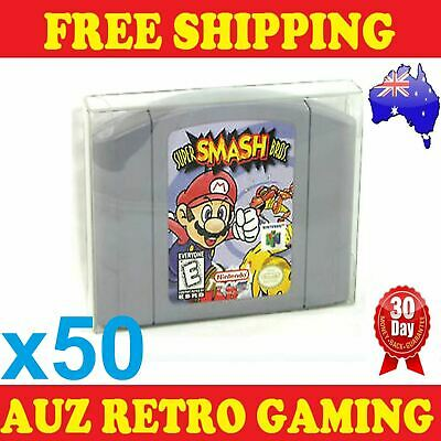 50x Thick GAME CART CARTRIDGE PROTECTORS Cases For N64 Nintendo 64 Games