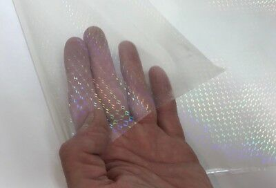 Transparent Holographic PRISM OVERLAY, with Adhesive, Lamination Grade Mosaic