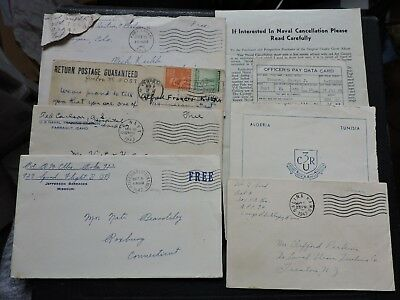 Lot Wwii Covers +Letters +Postcard +Documents ! World War Ii Soldier Military