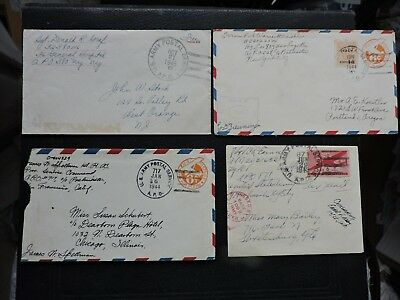 LOT x4 WWII APO COVERS +SOLDIER LETTERS +APO CHECKLIST DOCUMENT ! MILITARY WAR !