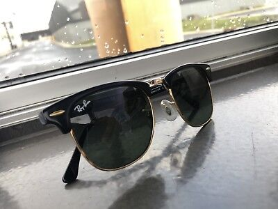 61337fa097a RAY-BAN CLUBMASTER TORTOISE Frame Classic G-15 Lens Unisex Sunglasses 49mm