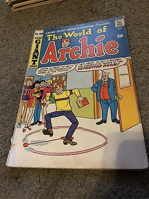 Archie Giant Series Comics The World Of Archie February No.160 1969