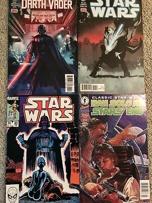 Star Wars 4 Assorted Comics Marvel And Dark Horse Solo Please See Pics