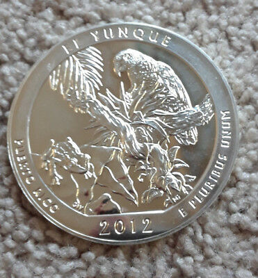 2012 America The Beautiful El Yunque 5 oz Silver ATB (Scruffy)