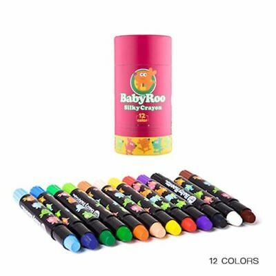 12Pack Colours Silky Crayon Twistable Washable Watercolour Stick Poster Paints