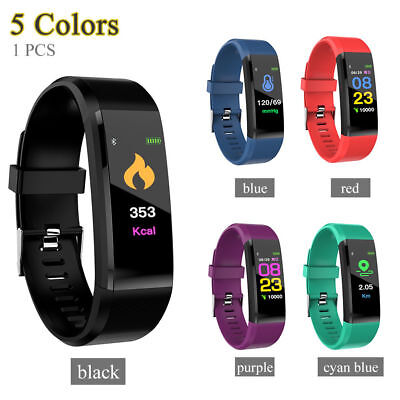 Bluetooth Smart Armband Uhr Pulsmesser Blutdruck Fitness Tracker Bracelet Watchh