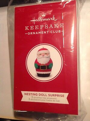 Hallmark 2018 KOC Nesting Doll Surprise Ornament Club UNOPENED!!! NR