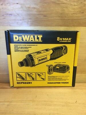 Dewalt Dcf682N1 8V Max Lithium Ion Gyroscopic Inline Screwdriver Kit New