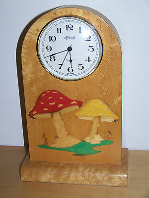 Hermle German Mantel Clock With Toadstool Inlay Design