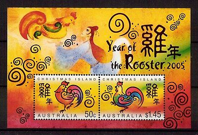 M1050sbs 2005 Australia Christmas Island Year of Rooster MUH Mini Sheet stamp