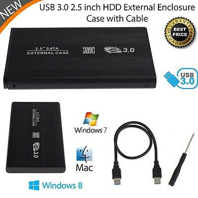 External HDD SSD 2.5inch USB 3.0 Hard Disk Drive Enclosure Case Caddy SATR TR