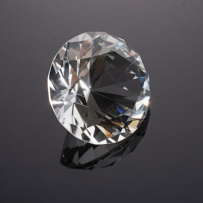 Clear Crystal Glass Diamond Paperweight Home Party Table Decor 50mm US Delivery