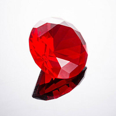 Red Crystal Glass Diamond Paperweight Wedding Christmas Decor 50mm US Delivery