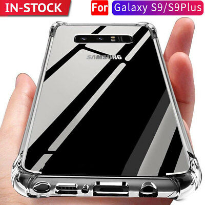 Shockproof Tough Soft Gel Clear Slim Case Cover for Samsung Galaxy S9 Plus S9+