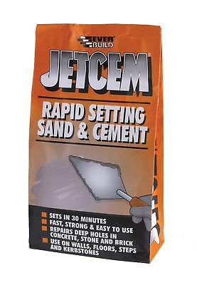 Rapid Setting Sand + Cement Premix 30 mins Fast Quick Set Repair Gaps Jetcem 6kg