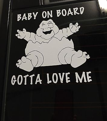 Baby On Board Vinyl decal With Baby Sinclair