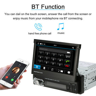 "7"" Car Stereo Radio Player GPS Navigation 1Din FM USB Bluetooth MP5 Player"