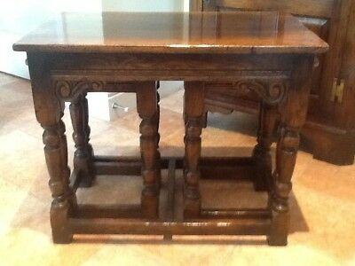 Titchmarsh And Goodwin Solid Oak Nest Of Tables
