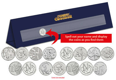 Personalised A-Z of Great Britain 10p Display Stand (6-10 Coins) [Ref: 231G]