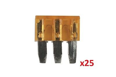 Connect Micro 3 Blade Fuse 5 Amp Pk25 Car Replacement Fuses Two Circuits 30705