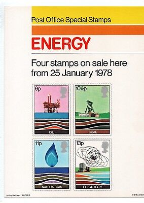 Gb - Royal Mail Posters - A4 - 1978 -  Energy