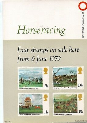 Gb - Royal Mail Posters - A4 - 1979 -  Horse Racing