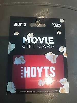 Hoyts $30 movie gift card - for use movie tickets and candy bar expiry 2021