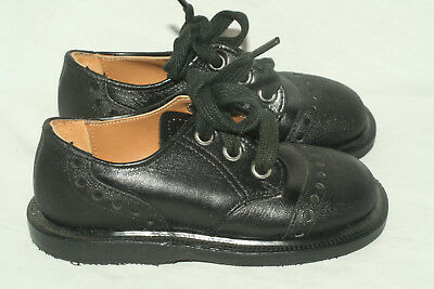 Buster Brown black brogue oxfords child 5 A narrow Made in USA NOS
