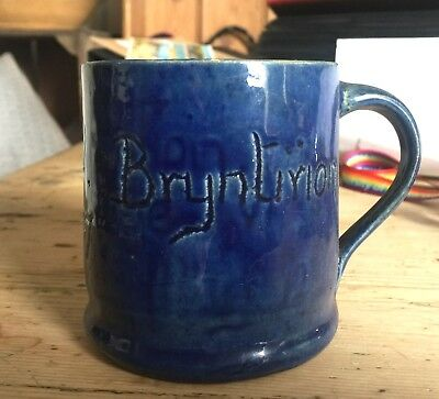 Ewenny Mug Dated 1937 And Inscribed ysgol Sul Bryntirion