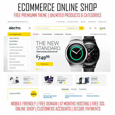 eCommerce Online Store | Premium WordPress Website Shop | Web Design | SEO Ready