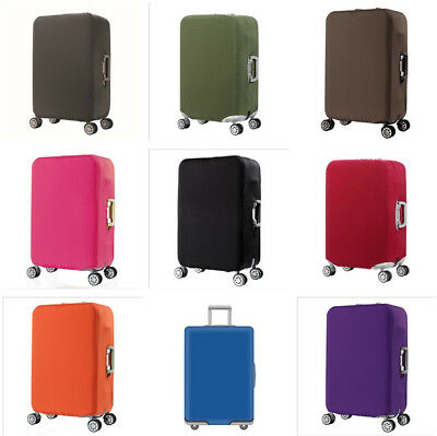 Plain Color 20/24/28/30'' Travel Luggage Suitcase Elastic Protector Cover Zipper