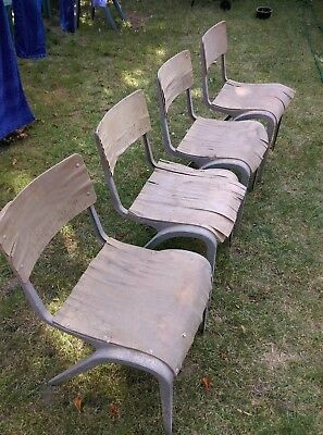 Esavian chairs (4) - 42cm seat hgt - for restoration - Collection ONLY - #1