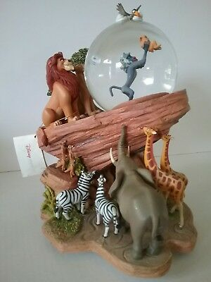 Disney LION KING The CIRCLE of LIFE  PRIDE ROCK Snowglobe SIMBA, RAFIKI, ZAZU