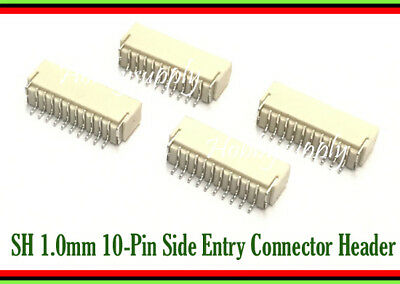 20 x JST SH Micro Mini 1.0 Pitch 10-Pin Male Side Entry Connector Header Socket