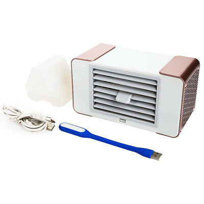 Desktop LED Air Conditioner Fan Fashion Air Cooler Electricfan Sleep Office