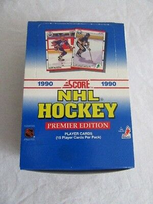 1990 SCORE NHL HOCKEY PREMIER EDITION PLAYER CARDS 36 PACKS of 15