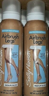 Sally Hansen AIRBRUSH LEGS SPRAY ON Medium Glow, 4.4 oz (2 Pack)