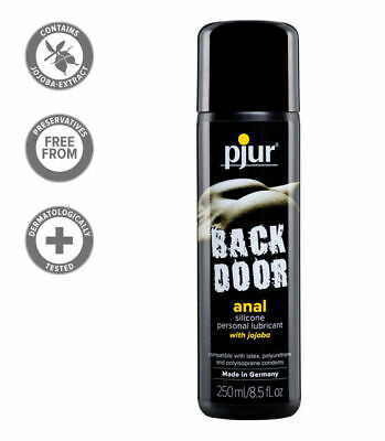 New Pjur Back Door Silicone Based Anal Glide Lubricant Lube w/ Jojoba 250 ml