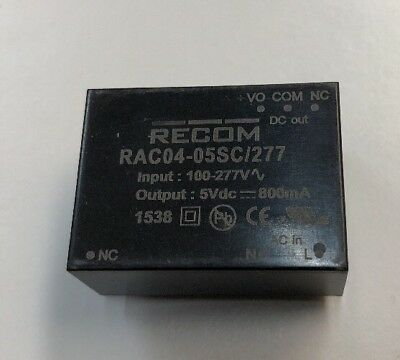 RAC04-05SC/277  Recom 4W Embedded Switch Mode Power Supply SMPS