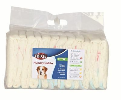 Trixie Female Dog Diapers Disposable Nappies Season Pants Pads 12 Pack ALL SIZES