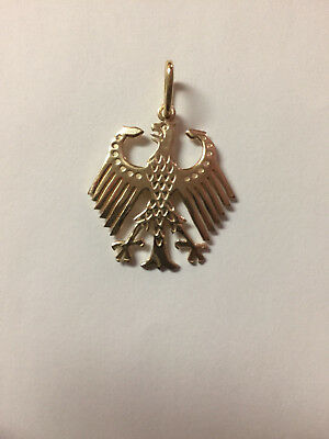 german eagle pendant in sterling silver