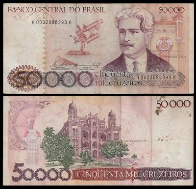 Brazil 50000 CRUZEIROS ND ( 1984-86) Sign.21  P 204a Circ.