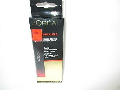 L'oreal Infaillible  Vernis Gel Duo Longue Tenue 2X5 Ml Orange  Sous  Blister