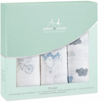 aden + anais CLASSIC MUSY 3 PACK NIGHT SKY REVERIE Baby Feeding Bibs BN