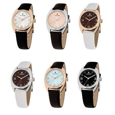 Womens Wristwatch HOOPS LIBERTY Vintage Genuine Leather Black White Brown NEW
