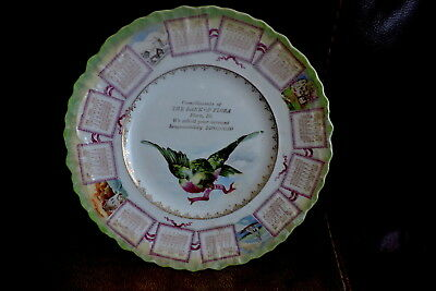 1909 Calendar Adv. Plate..the Bank Of Flora , Ill...pretty Opalescent..12 Months