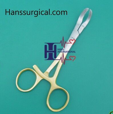 "Orthopedic Bone Reduction Forceps 5.5"" 2 Pieces Set Gold Plated Forceps"