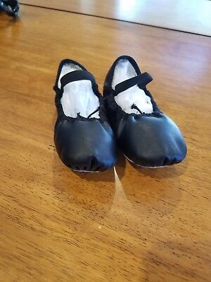 Girls Black Ballet Dance Shoes Freestyle by Danskin Size 13 Excellent Condition