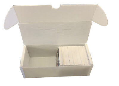 25 Max 500 Count Corrugated Plastic Baseball Trading Card Storage Boxes White
